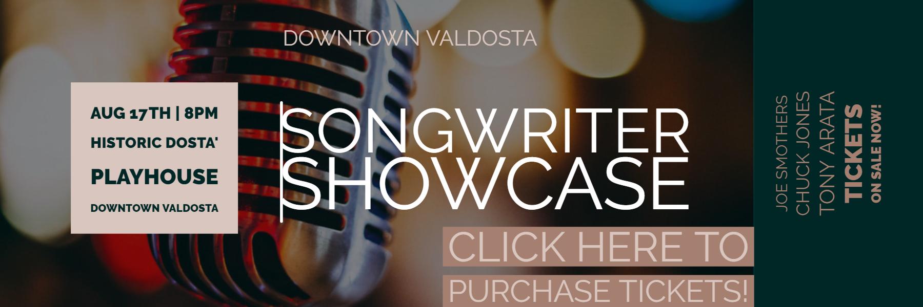 Downtown Valdosta Songwriter Showcase Aug 2019